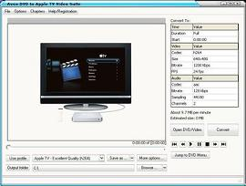 Avex DVD to Apple TV Video Suite is a One-click, All-in-One solution to create Apple TV movies from DVDs, TV shows and home videos.