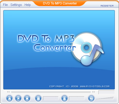 DVD To MP3 Ripper - Rip dvd to mp3 files.