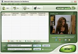 Aimersoft Video Converter for BlackBerry - BlackBerry Video, BlackBerry Converter