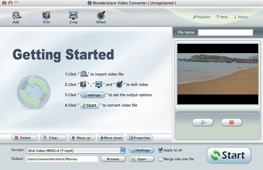 Wondershare Video to Blackberry Converter for Mac – Video to BlackBerry Converter for Mac, Mac Video to BlackBerry
