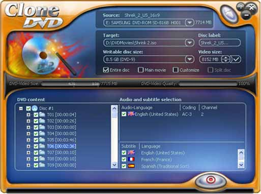 CloneDVD - Worldwide most popular DVD movie copy software.