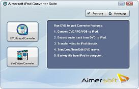 Aimersoft iPod Converter Suite - iPod Nano/Touch/Classic Movie/Video Converter