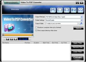 iWellsoft Video to PSP Converter - convert Video to PSP, PSP Converter