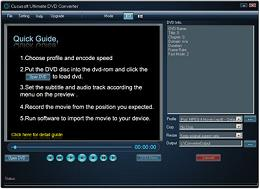 Cucusoft Ultimate DVD Converter converts DVD's to play on iPod, iPhone almost any portable device