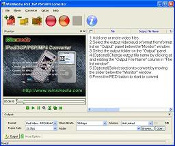WinXMedia iPod/3GP/PSP/MP4 Converter is a powerful and easy-to-use iPod video converter.